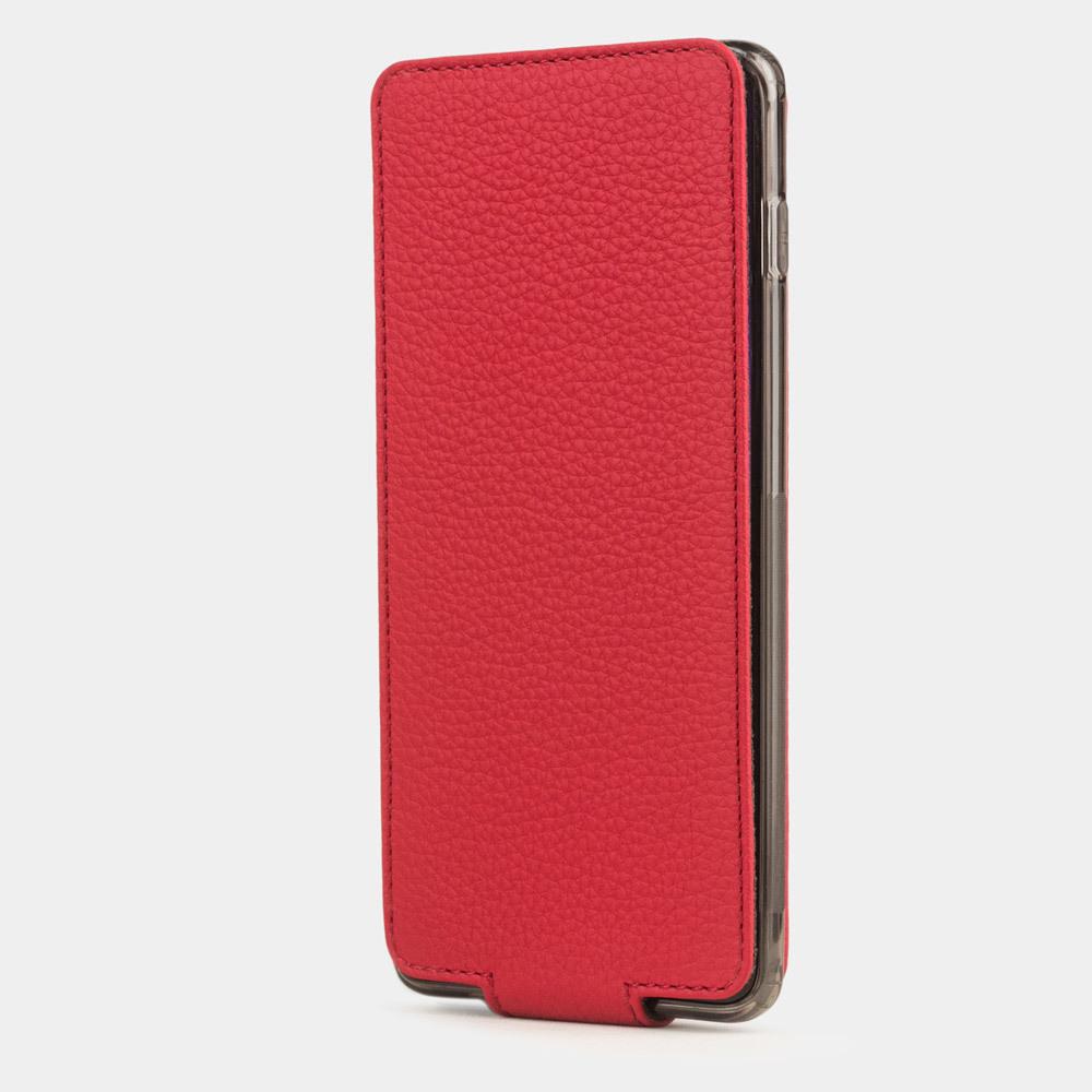 Чехол для Samsung Galaxy S10 Plus из натуральной кожи теленка, красного цвета