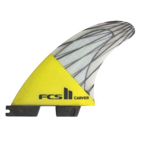 Плавники FCS II Carver PC Carbon Yellow Large Tri Retail Fins, компл. из трех L