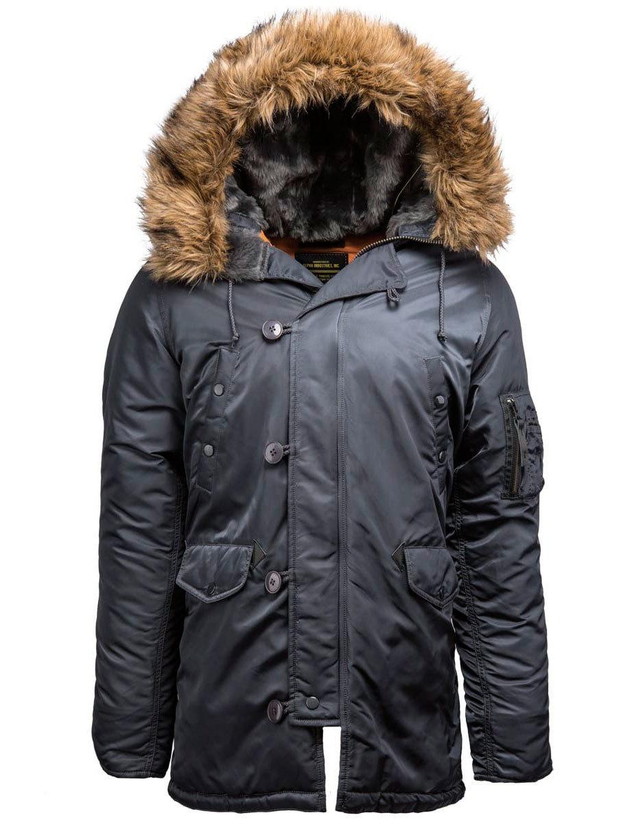 Куртка Аляска Alpha Slim Fit N-3B (стальной синий - steel blue)