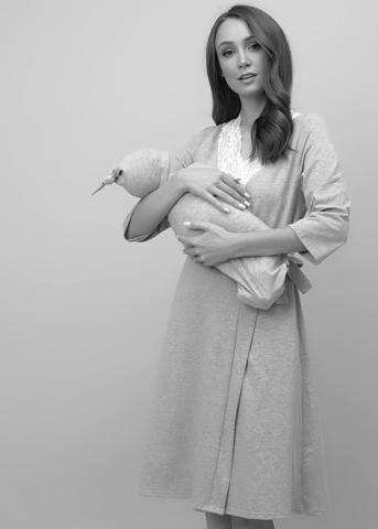 Комплект для роддома Nataly для беременных и кормящих бирюза 6907