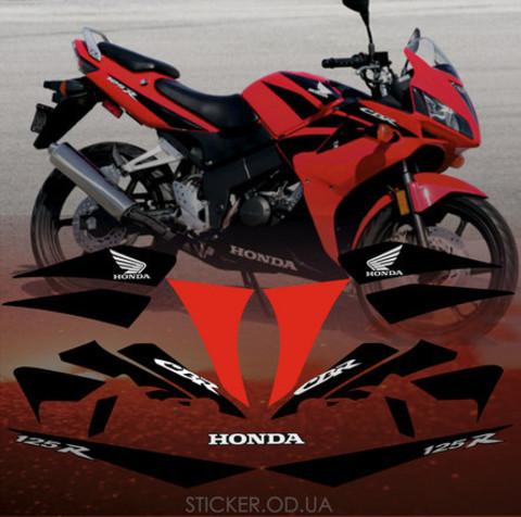 Набор виниловых наклеек на мотоцикл HONDA CBR 125R 2008
