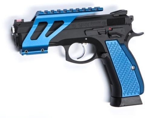 Накладки на рукоятку для CZ SP-01 SHADOW синие (планка в комплект не входит) (артикул 18478)