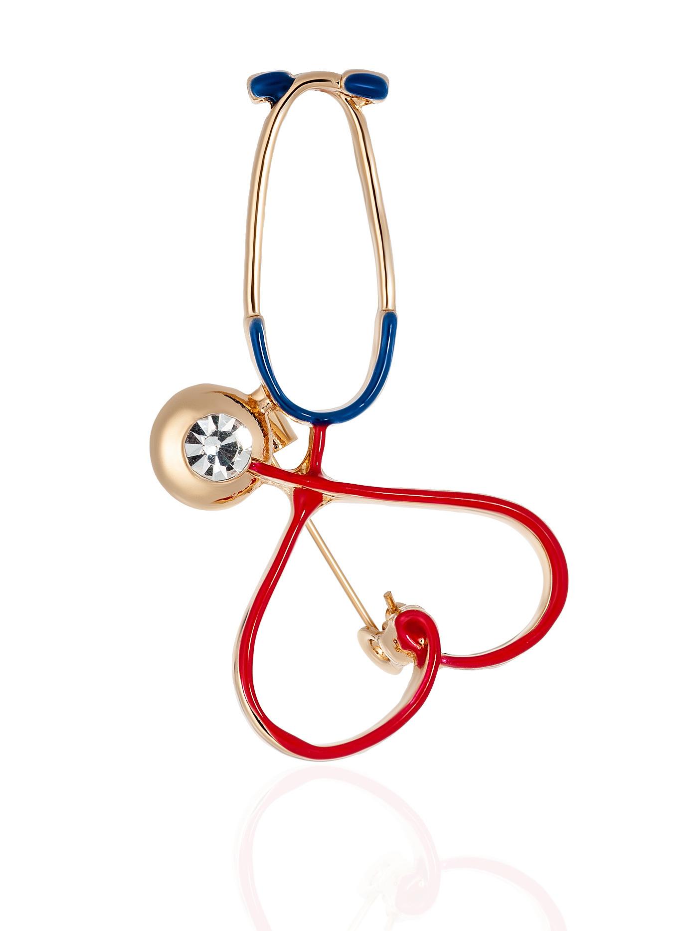 Брошь Стетоскоп в подарочной коробке, подарок на день медицинского работника