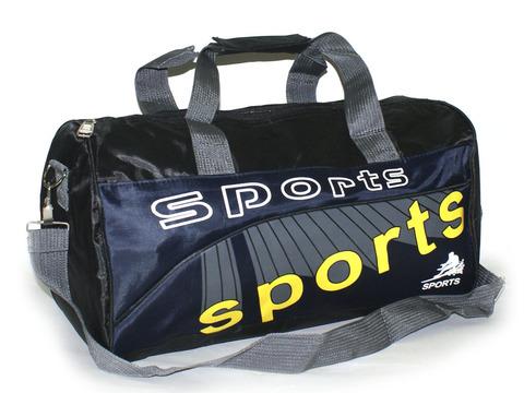 Сумка спортивная с одним основным карманом и регулируемым плечевым ремнём. Размер 41х22х16 см. 7222
