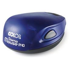 Оснастка для печати овальная Colop Stamp Mouse 40 мм с крышкой синяя