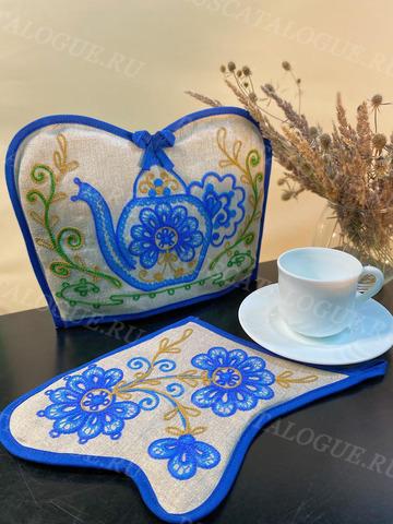 Комплект из прихватки и грелки на чайник