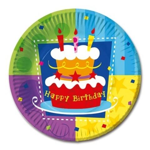 Тарелка Торт Birthday 17см 6 шт.