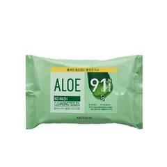 Салфетки для снятия макияжа ARITAUM Aloe No-wash Cleansing Tissue 20sheets