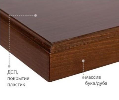 Столешница с кромкой из массива 900*900*37 мм