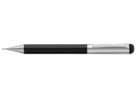 Карандаш механический ELEGANCE Twist 0.7мм цвет корпуса черный с серебристыми вставками