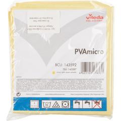 Салфетки хозяйственные Vileda Professional ПВАмикро микроволокно/ПВА покрытие 38x35 см желтые 5 штук в упаковке (арт. производителя 143592)
