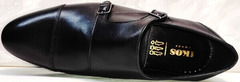 Черные мужские туфли из натуральной кожи Ikoc 2205-1 BLC.