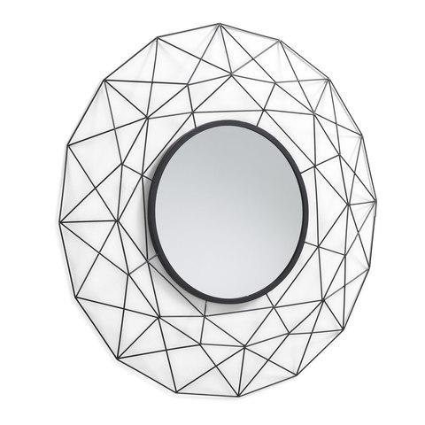 Зеркало Habita металлическое черное