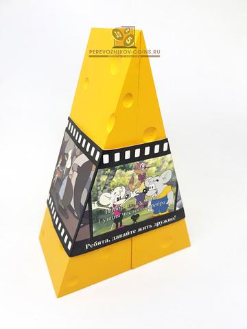"""Набор монет 2 доллара Остров Кука  2008 год """"Мультики. Сыр"""""""