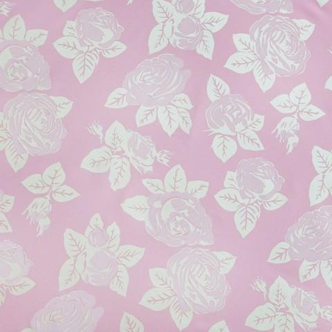 Тик 220 см 145 +/- 5 гр/м2 Розы цвет розовый