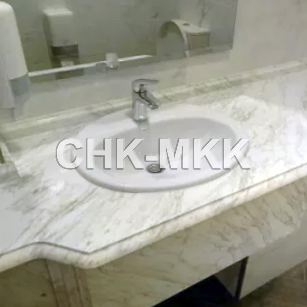 Столешница в ванну из мрамора Волокас (Volocas)