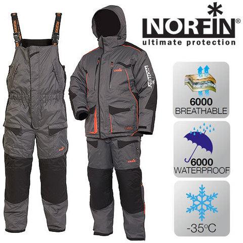 Костюм рыболовный зимний NORFIN Discovery Gray 451102-M-L
