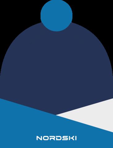 Шапка Nordski Line Blue