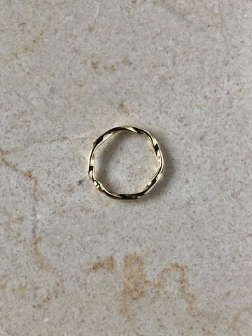 Кольцо Рифл, позолота