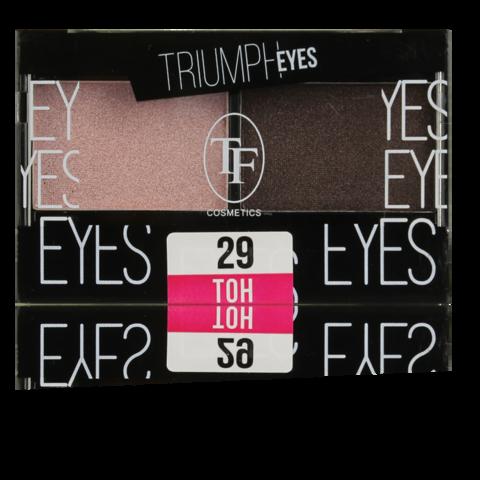 TF Тени двухцветные компактные  тон 29 Пыльный розовый и Шоколад CTE33 TRIUMPH EYES