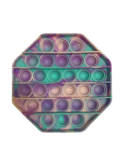 Поп Ит Игрушка антистресс Вечная пупырка Попит 12,2 х 12,2 см фиолетово-розовый восьмиугольник POP IT