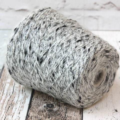 Фасонный твид FASHION MILL COCO 200 светло-серый с серебром