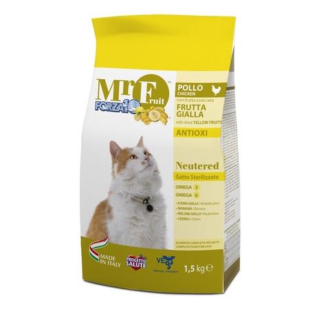 купить Forza10 Mr. Fruit Neutered сухой корм для стерилизованных кошек с экстрактом жёлтых фруктов