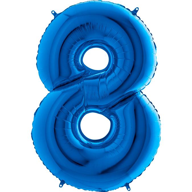 Синяя цифра 8