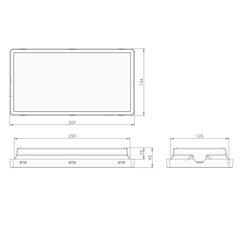 Размеры светового указателя серии Vella LED eco SO IP65 Intelight
