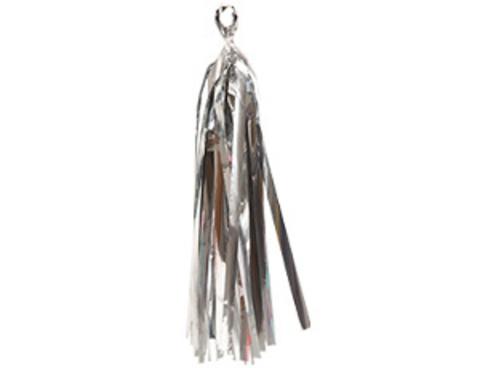 Гирлянда Тассел фольгированная серебряная