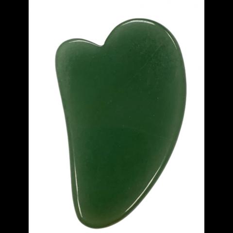 Скребок гуаша для массажа- Сердце Mini (авантюрин, 7 см)