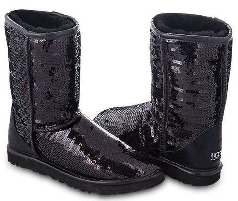 UGG Classic Short Sparkles Black