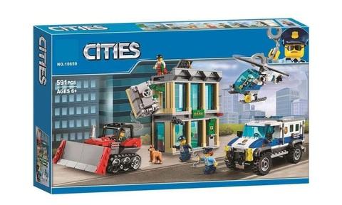 Конструктор Cities 10659 Ограбление на бульдозере
