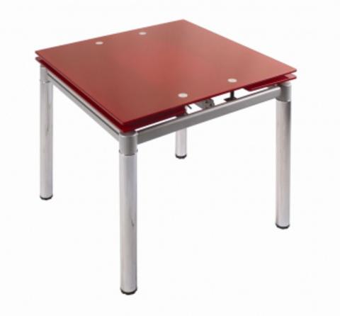Стол раздвижной обеденный 179 красный перламутр.
