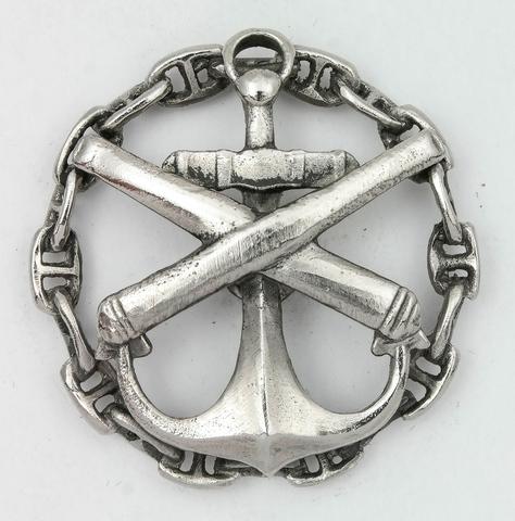 Знак морских офицерских классов. Артиллерийский класс.