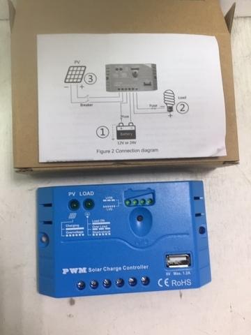 Контроллер заряда солнечных батарей TPS 0512 12в, 5а
