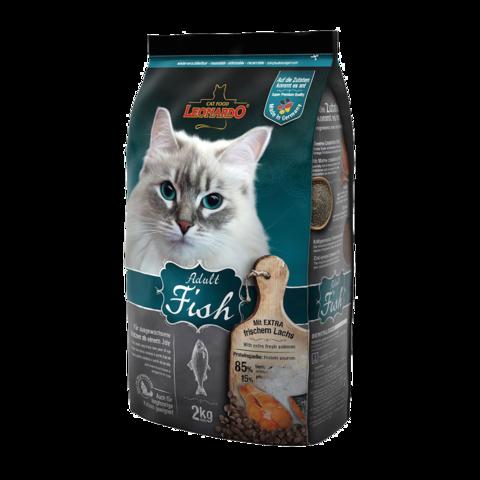 Leonardo Adult Fish Сухой корм для кошек для здоровья кожи и шерсти с рыбой и рисом