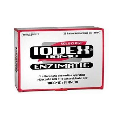 Natural Project Iodex: Разогревающий раствор против жировых отложений в зонах живота и боков для мужчин (Iodex Enzymatic), 10*15мл