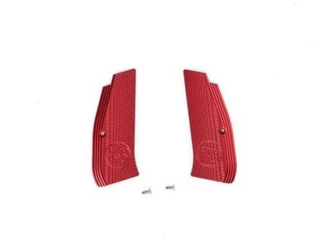 Накладки на рукоятку с лого CZ для CZ SP-01 SHADOW красные (артикул 18514)