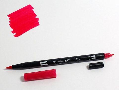 Маркер-кисть Tombow ABT Dual Brush Pen-815, вишневый