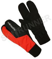 Перчатки-лобстеры Nordski Arctic Red/Black WS 2020