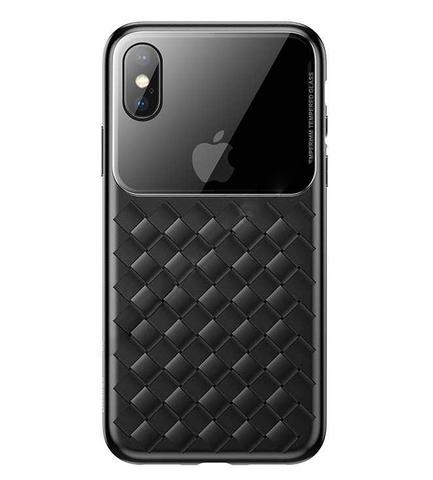 Чехол iPhone XS Baseus Weaving Case /black/