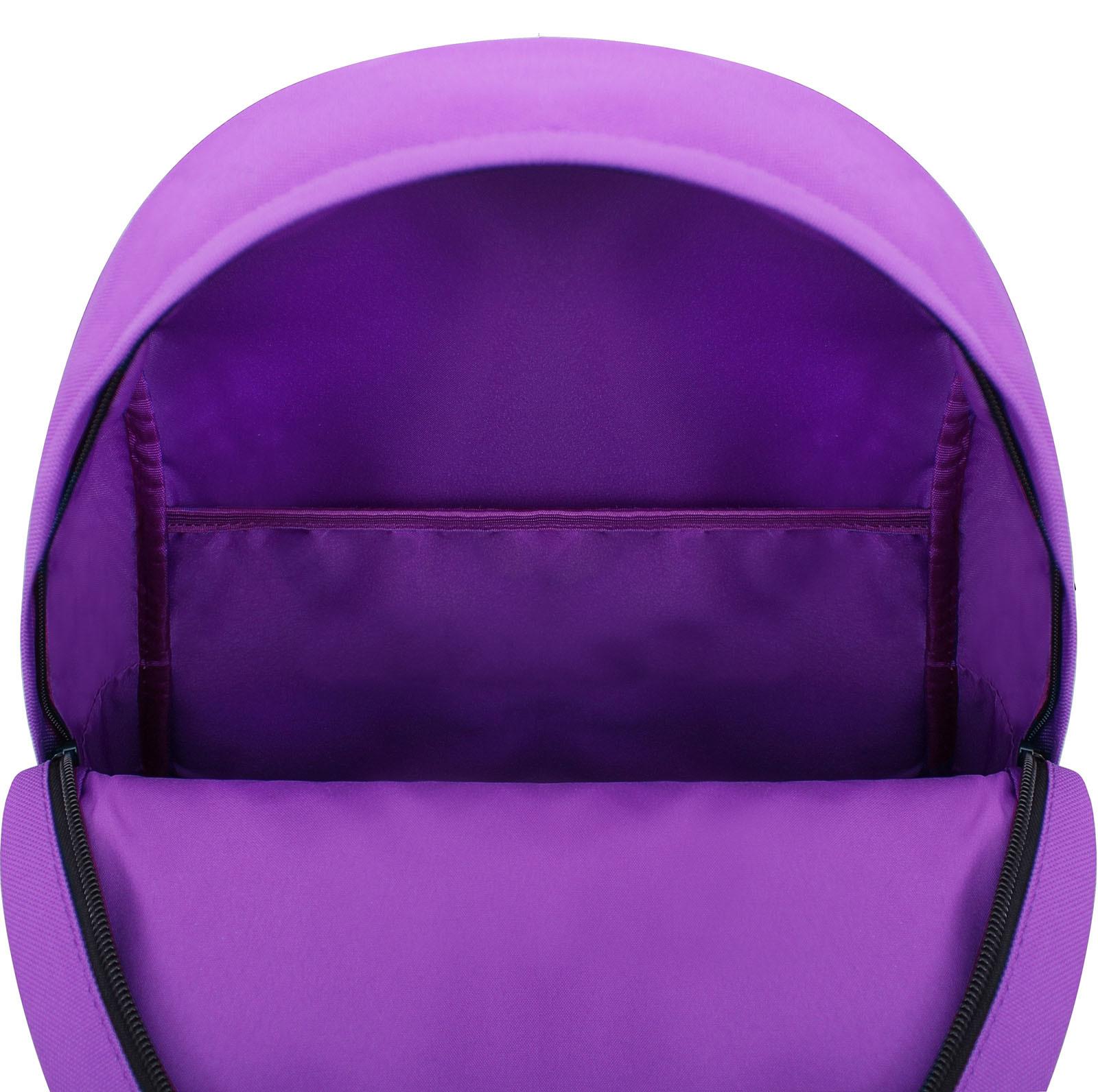 Рюкзак Bagland Молодежный W/R 17 л. Фиолетовый 170 (00533662 Ш) фото 5