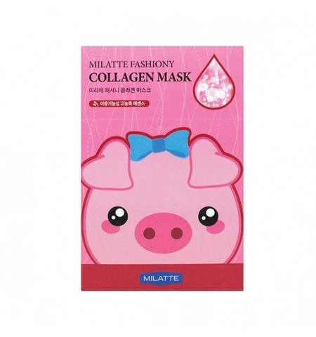 МЛТ Маска на тканевой основе для лица с коллагеном MILATTE FASHIONY COLLAGEN MASK SHEET (Renewal) 21