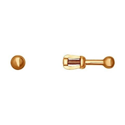 021685- Серьги-пусеты из золота без вставок