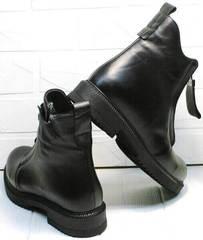 Черные ботинки на толстой подошве на осеньTina Shoes 292-01 Black.