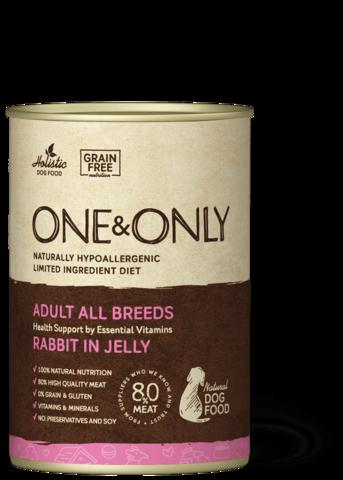 Консервы (банка) One&Only кролик в желе для собак