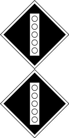 Железнодорожный постоянный сигнальный знак «Поднять токоприемник на электропоезде»