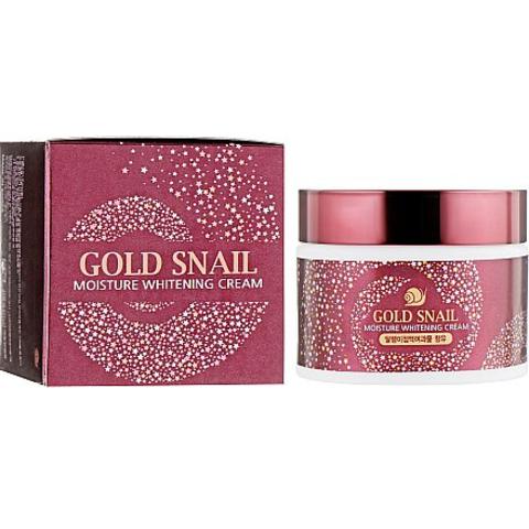 Осветляющий увлажняющий крем с муцином улитки Enough Gold Snail Moisture Whitening Cream