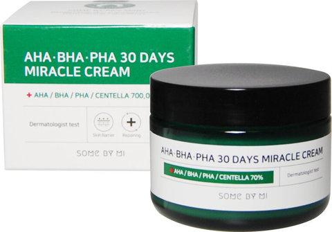 Some By Mi Крем восстанавливающий для проблемной кожи AHA BHA PHA Miracle Cream 60 г.